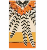 Paper Hand Towels Feathers Ochre