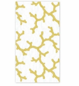 Paper Hand Towels Gold Coral