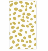 Paper Hand Towels Gold Dots