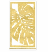 Paper Hand Towels Gold Palm