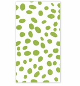 Paper Hand Towels Green Dots