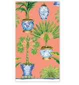 Paper Hand Towels Palm Coral
