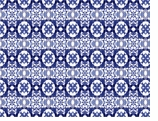 Paper Placemats Blue Tile