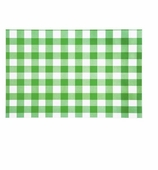 Paper Placemats Gingham Green