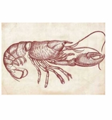 Paper Placemats Lobster