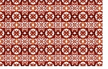 Paper Placemats Red Tile