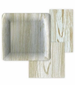 Paper Plates and Napkins Faux Bois