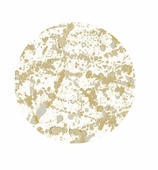 Paper Plates Lunch Gold Splatter