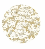 Paper Plates Dinner Gold Splatter