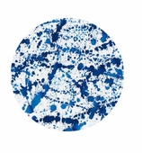 Paper Plates Lunch Splatterware Blue