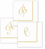 Personalized Cocktail Gold Border Pack of 120 A