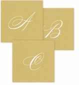 Personalized Cocktail Napkins Gold