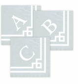 Personalized Cocktail Napkins Silver