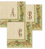 Personalized Cocktail Napkins Winter Garden