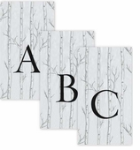Personalized Hand Towels Birch