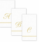 Personalized Hand Towels Gold Border Pack of 90 A