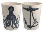 Plastic Bathroom Wastebaskets Anchor/Octopus