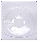 Plastic Dinner Plate - Clear
