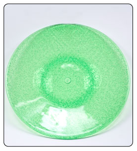 plastic dinner plate green