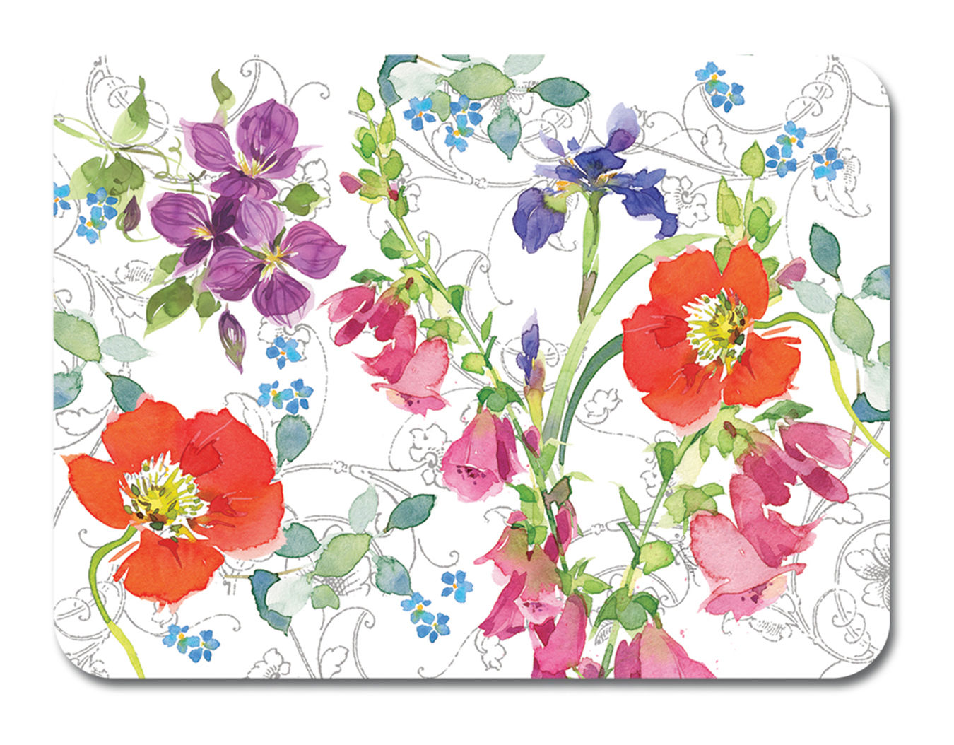keller charles plastic placemats - plastic placemats perenial click to enlarge