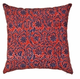 Blue Red Block Pillow
