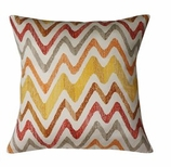 Red Chevron Pillow Without Insert