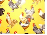 Rooster Fabrics Yellow Swatch