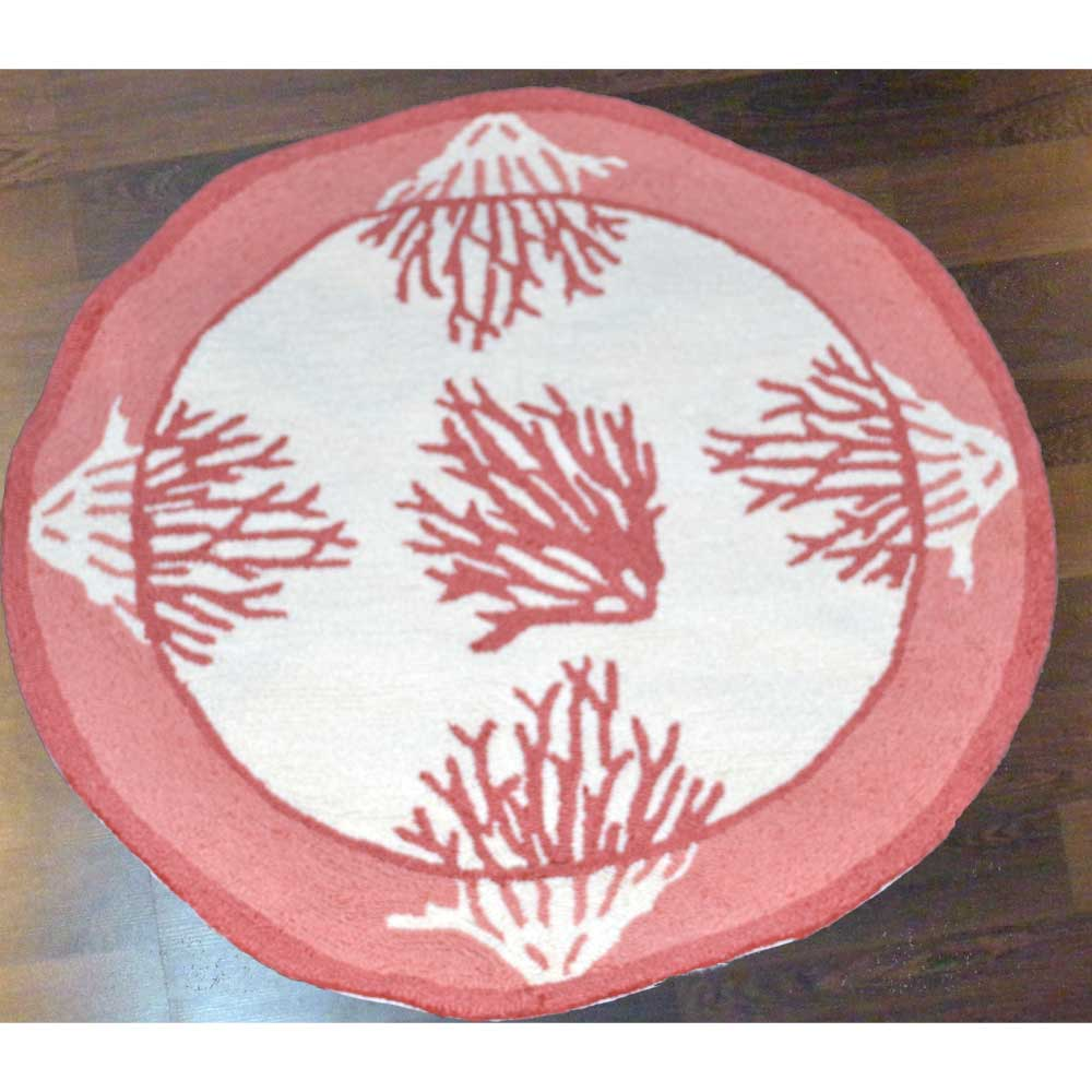 Round Kitchen Rugs Coral. Click To Enlarge