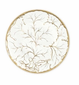Salad Plates Gold Leaf