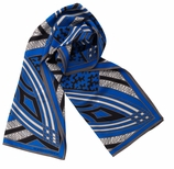 Scarves for Women Blue Deco