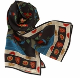 Scarves for Women Qing Black