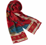 Scarves for Women Qing Red
