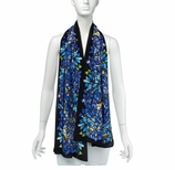 Silk Scarves for Women Floral