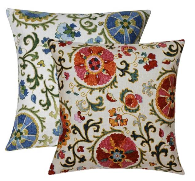 Etonnant Suzani Decorative Throw Pillows