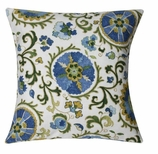 Suzani Pillow Blue