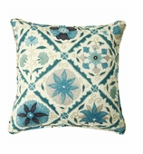 Suzani Pillows Blue Beige