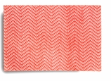 Cloth Placemats Red Chevron