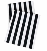 Table Runners  Black Stripe 72""
