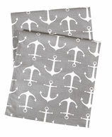 Table Runners Gray Anchor 72""