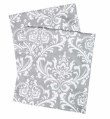Table Runners Gray Damask 72""