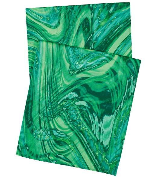 Table Runners Marble Green 72 Inch