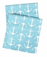 Table Runners Turquoise Anchor 90""