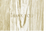 Thank You Note Cards Faux Bois