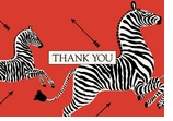 Thank You Note Cards Red Zebra