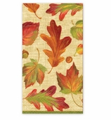 Thanksgiving Hand Towels Linen Leaves