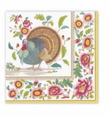 Thanksgiving Napkins Lunch Turkey