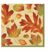 Thanksgiving Paper Napkins Dessert Leaves