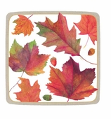 Thanksgiving Paper Plates Dessert Leaves
