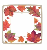 Thanksgiving Paper Plates Dinner Leaves