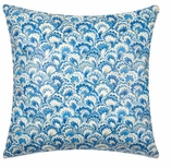 Throw Pillow Covers Blue Paisley